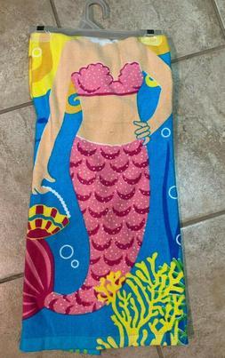Kids Hooded Poncho Towel Baby Mermaid Beach Swimming Pool Ba