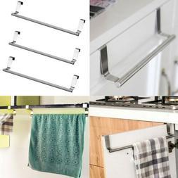 Over Door Towel Rack Holder Bathroom Cabinet Shelf Rack Bar