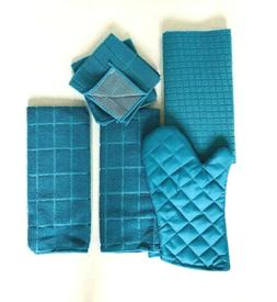 Kitchen Towel Set of 6 Drying Mat Oven Mitt 2 Hand Towels 2
