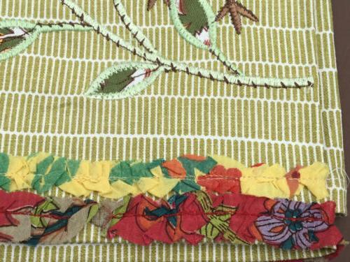 World Kitchen/Tea Towel Embroidered Patchwork Bird