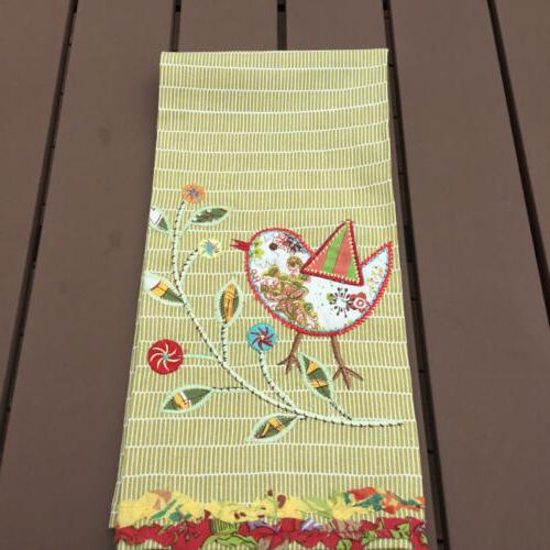 100 percent cotton kitchen tea towel embroidered
