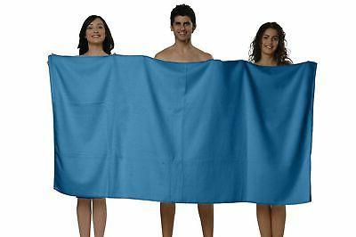 "100% Non-GMO Turkish Cotton Bath Sheet, Extra 40""x80"", Thirsty Towels, 6..."