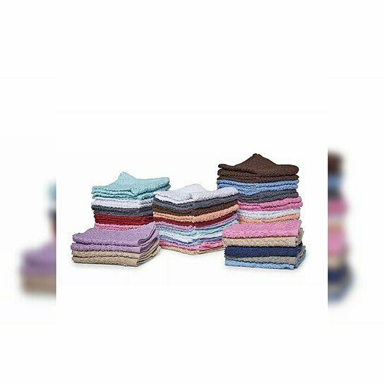 "12-Pack:100% Cotton Washcloth Set 11""x11"" Dish"