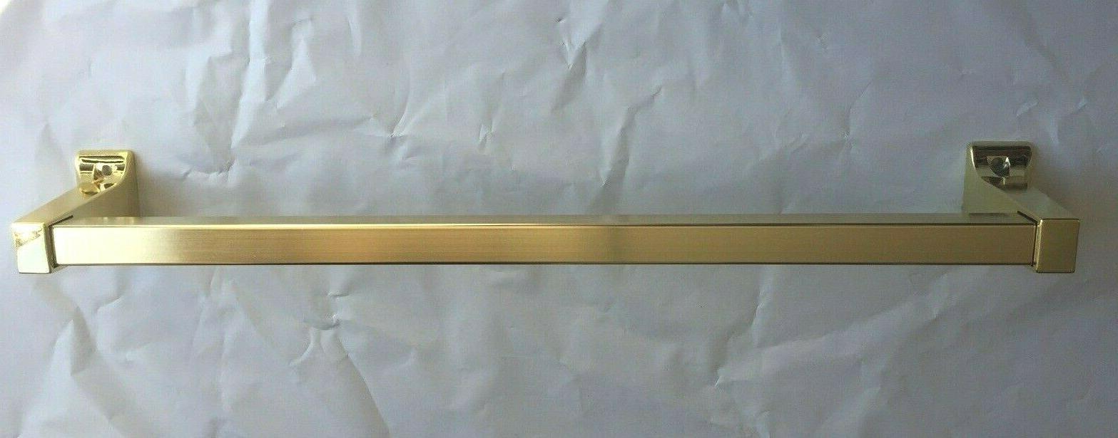 """15"""" Polished Brass Mounted Bar Rack Holder Hanger"""