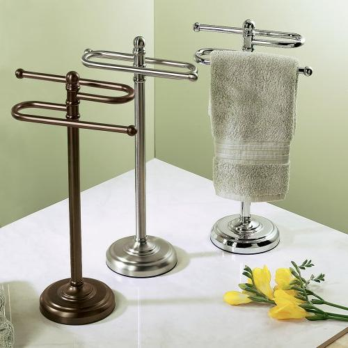 Gatco Counter S Style Towel Holder, Satin