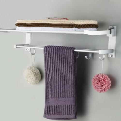 2-Tier Bathroom Rack Holder Wall Mount Hotel Shower