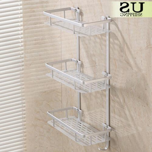 3 Towel Rack Bathroom Wall Toilet Bath Caddy Storage Shelf