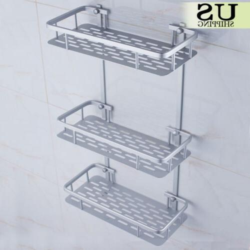 3 Tier Bathroom Organizer Wall Mount Toilet Shelf
