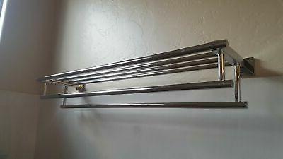 KES Towel Rack Steel Double Towel Bar Dual...