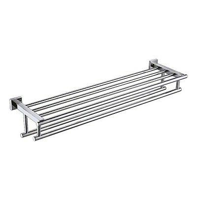 30 inch large towel rack with shelf
