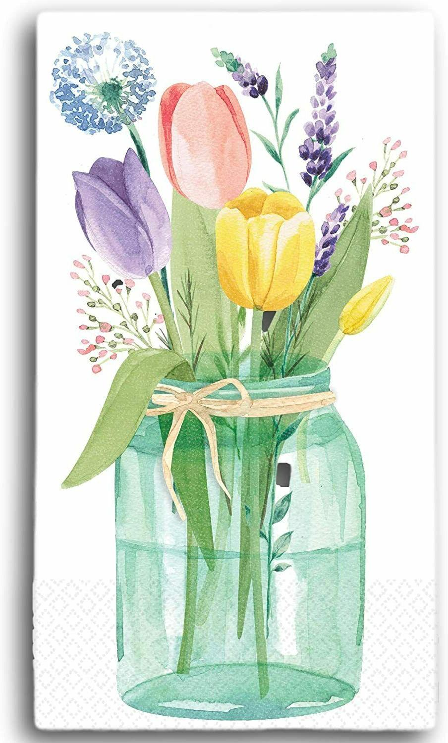 32 Count Paper GUEST ~Tulips, Home/Happy
