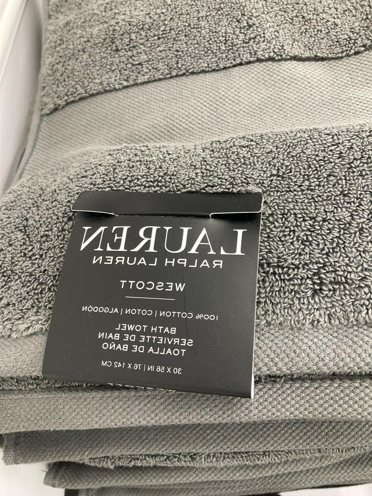 4 Ralph Wescott Towel Set Dark Grey 100%
