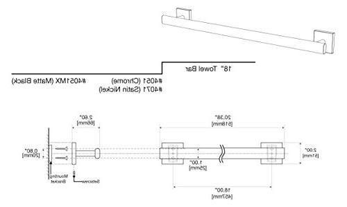 Gatco 4051MX Elevate Towel Bar, Black