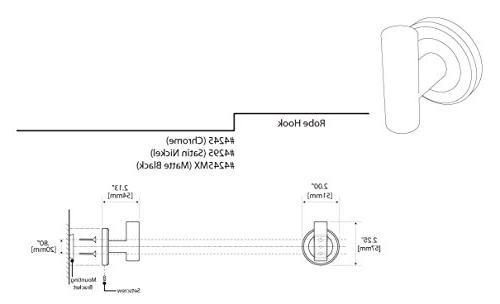 Gatco II Single Hook, Nickel