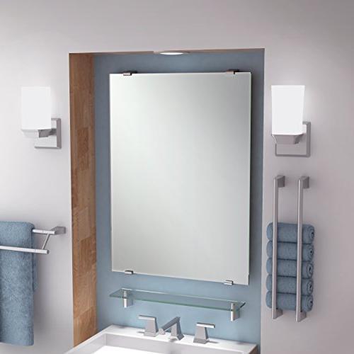 Bleu Mounted Towel Ring, Towel Wall Mounted, Nickel, Platinum, Metal