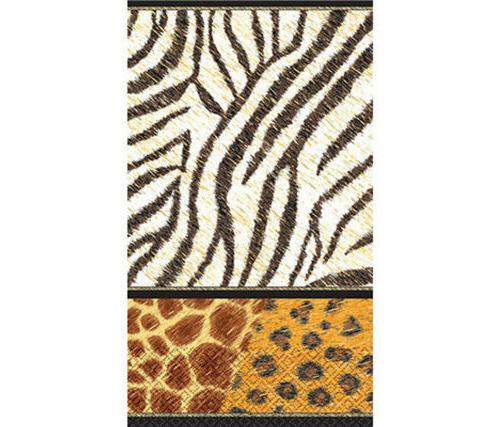 "Animal Prints Guest Paper Towels | 16 Ct. | 4"" x 7"""