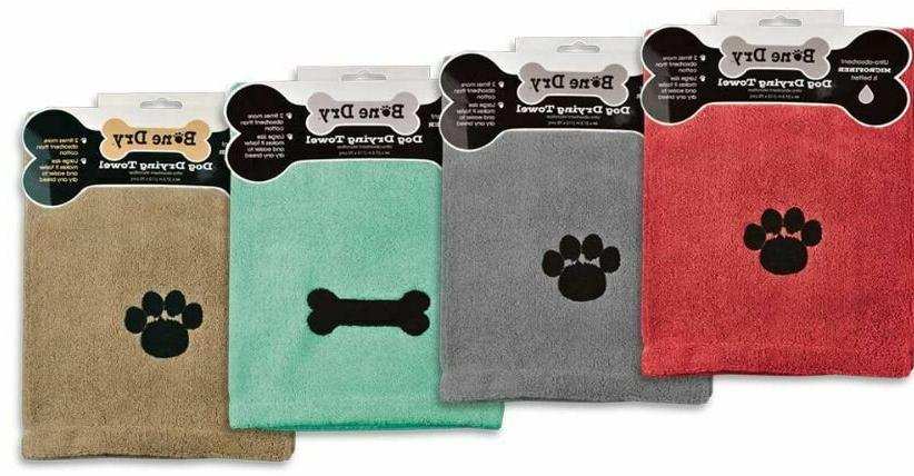 Bone Dog Towel Embroidered Print FREE SHIPPING!