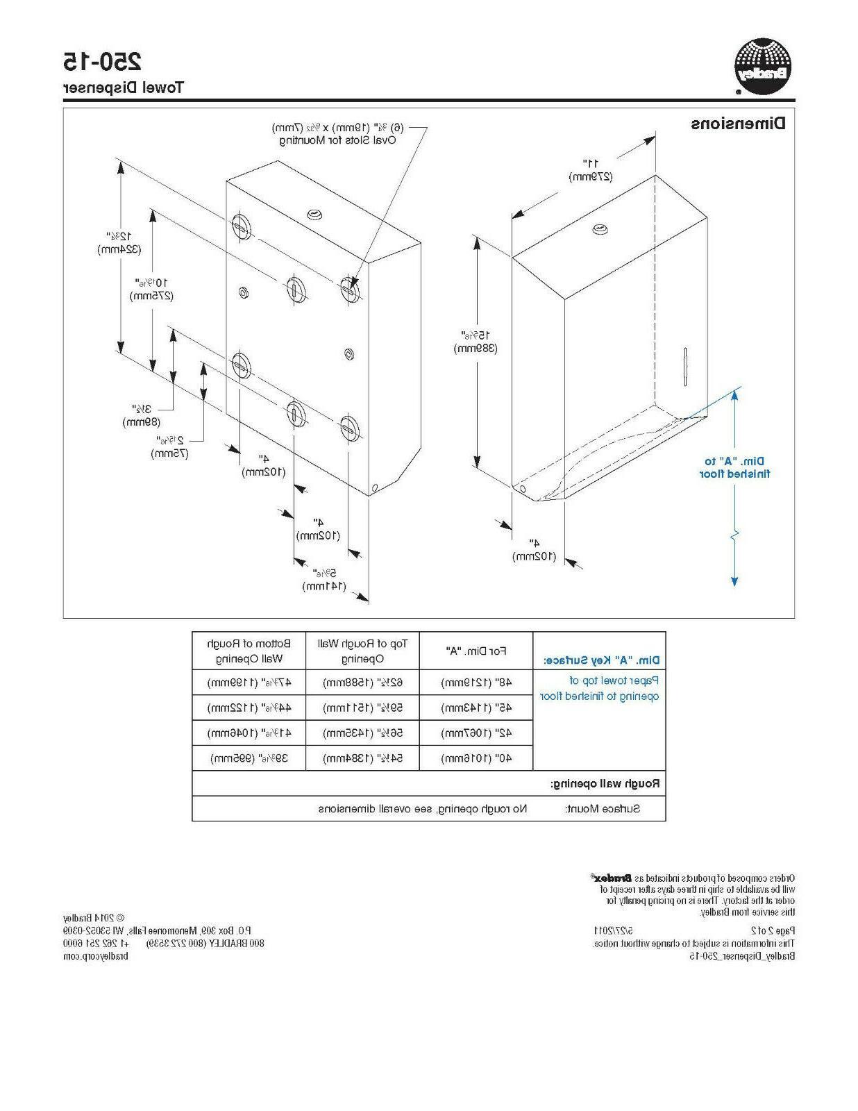Bradley Dispenser, Multi-Fold Or