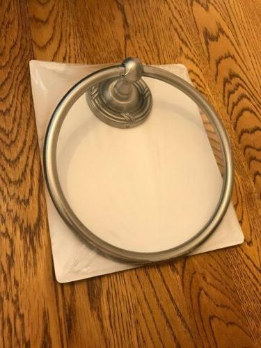 chenille by towel ring vintage satin nickel