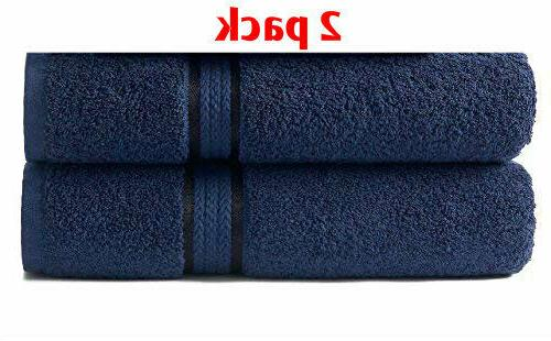 Oversized Bath Towels Sheets Blue Extra Large Soft Cotton  3