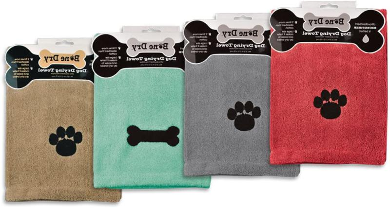 Dii Bone Pet Towel With Embroidered Paw