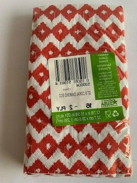 Amscan Eco Diamond Towel 16 Ct Napkins 2 ply