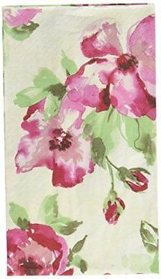 Amscan English Rose Guest Towels Floral Party Disposable Tab