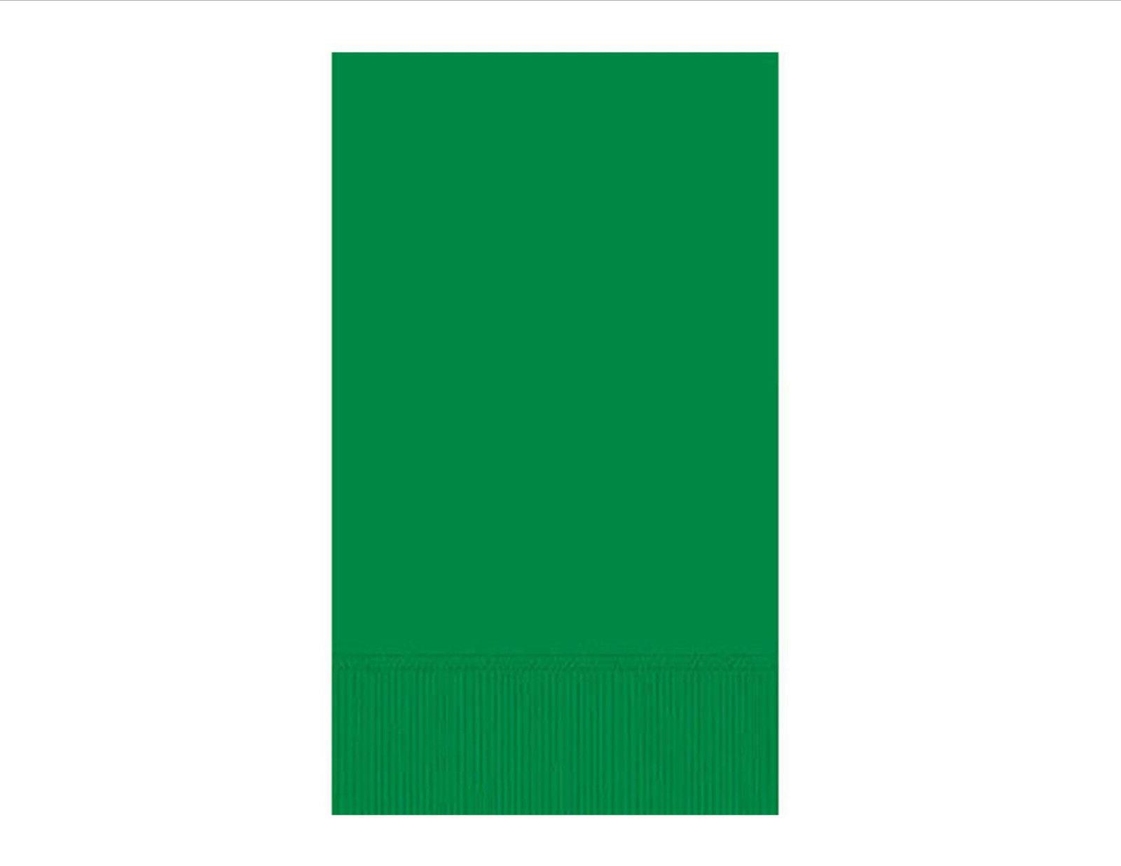 festive green paper guest towel 3ply 16