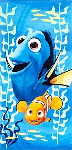 Finding Nemo And Dory Beach Towel measures 28 x 58 inches