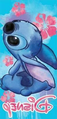 Disney Floral Stitch Beach Towel
