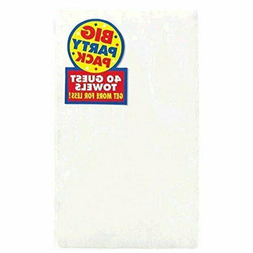 frosty white 2 ply paper guest towel