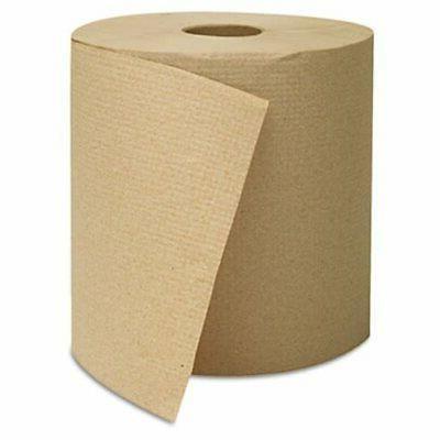 Hardwound Roll Towels, Kraft, 8 x 800'