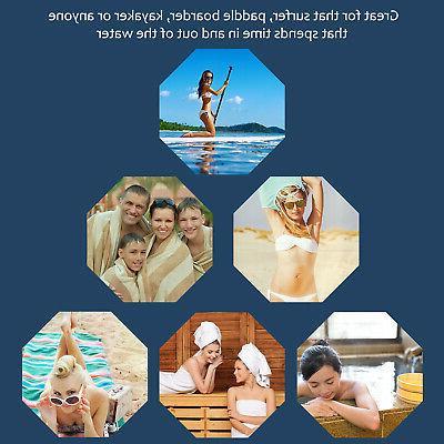 Surf Towel With Hood, Super Absorbent Bath Poncho