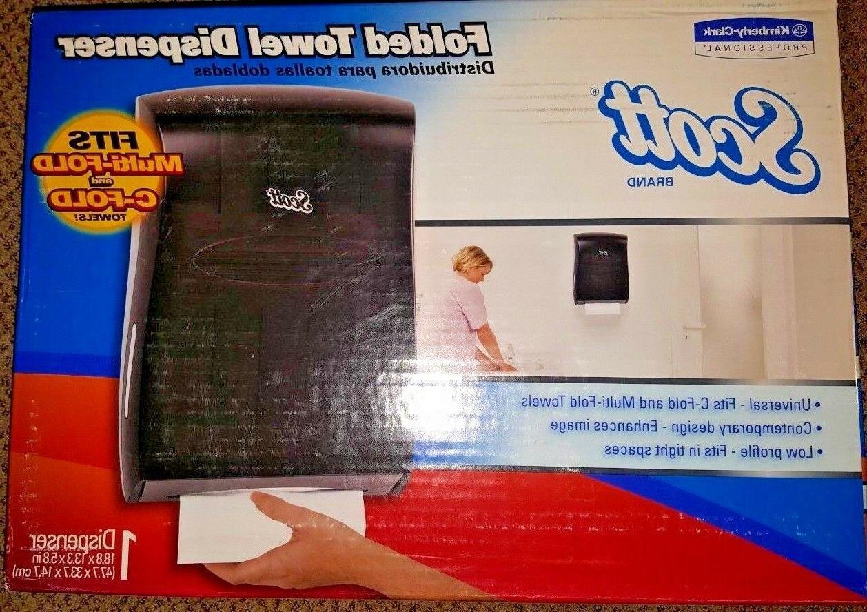 kimberly clark scott brand folded towel dispenser