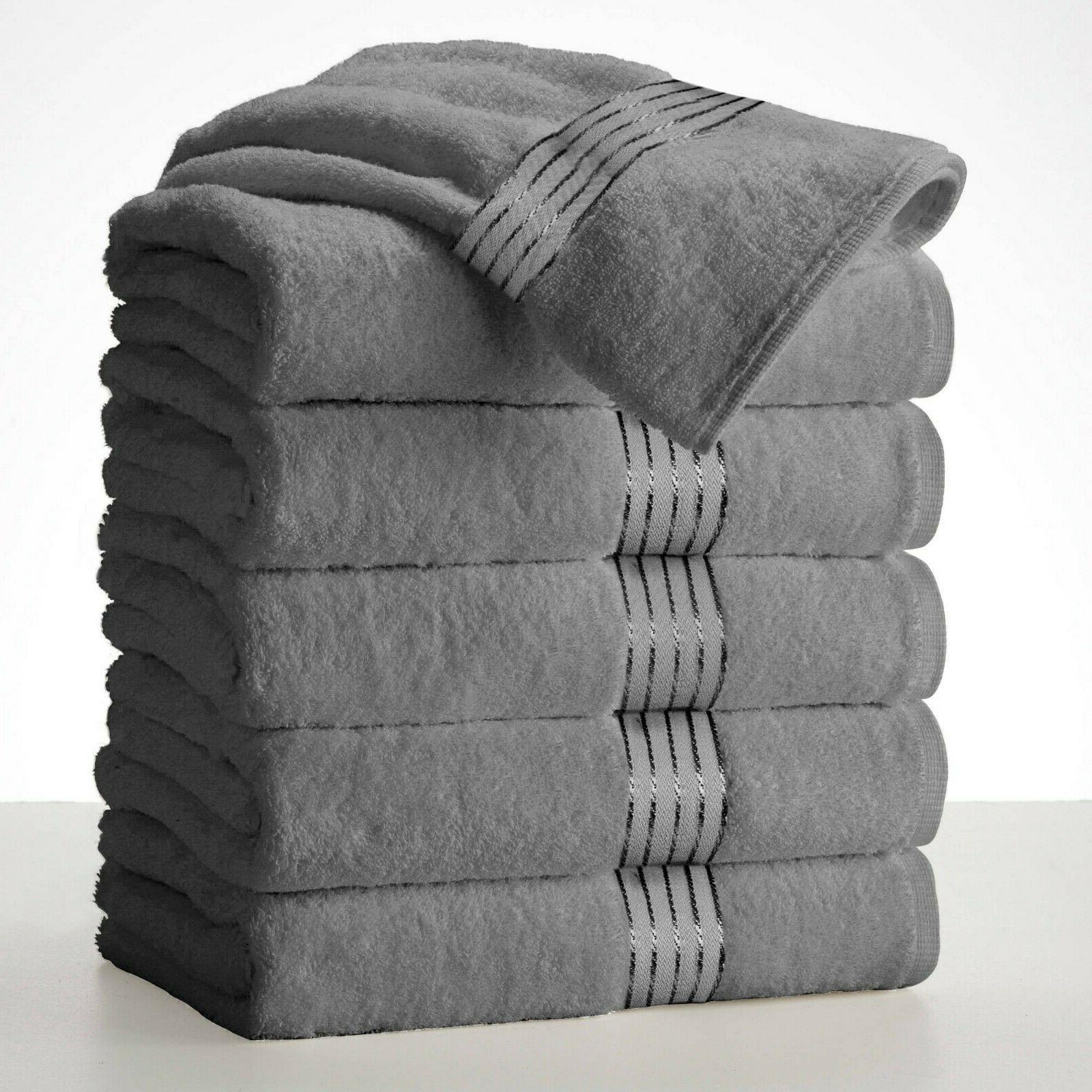 "Large Bath Towel Sets Sheets 27""x58"" 450 Absorbent"