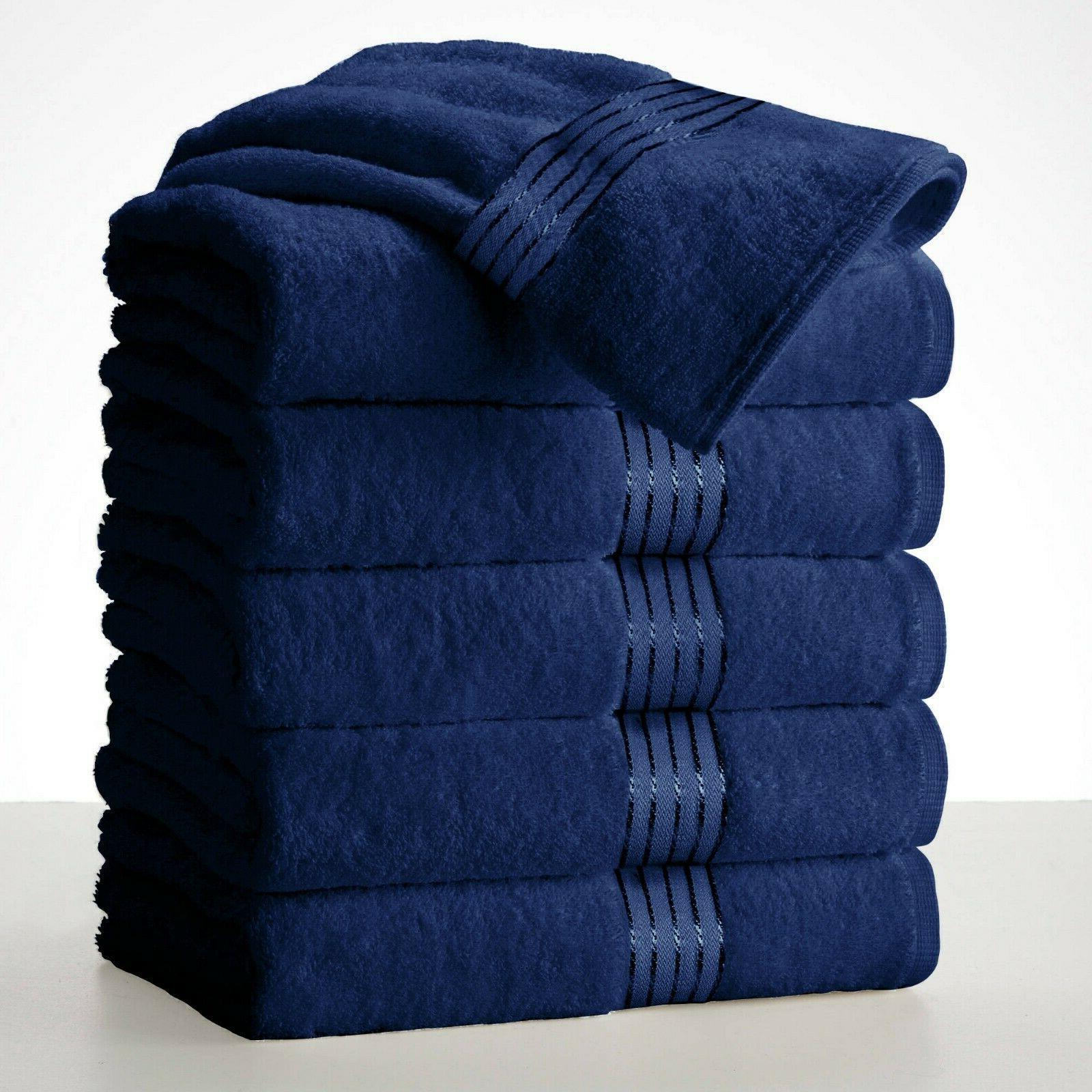 """Large Bath Towel Sets Cotton 27""""x58"""" 450 Absorbent"""