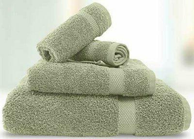 Luxury Green Bath Set Hotel Soft Cotton - 8