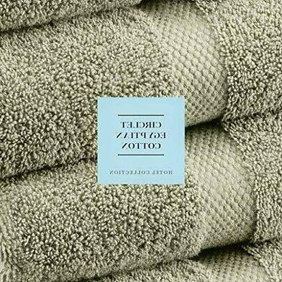 Luxury Green Towel Set - Hotel Cotton 2/Bath 2/Hand - Piece