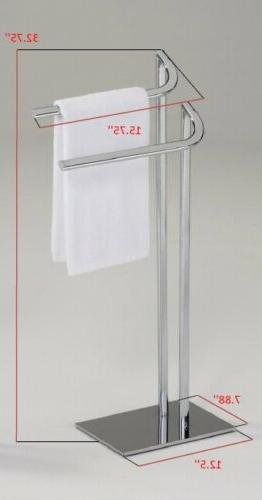 Kings Brand Furniture Metal Freestanding Bathroom Towel Rack Stand,