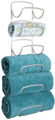 mDesign Modern Decorative Six Level Bathroom Towel Rack Hold