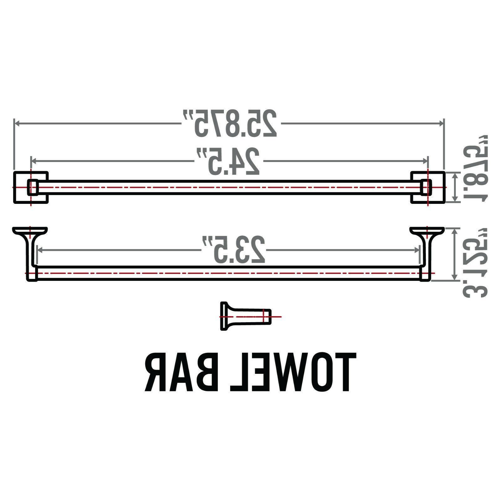 Redwood Series Bar Bath Hardware Accessory, Nickel