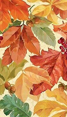 Amscan ELEGANT LEAVES 16 Count DISPOSABLE Paper GUEST TOWELS