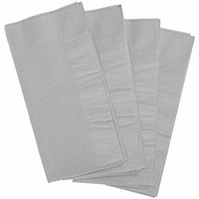 Amscan Silver 2-Ply Guest Towel Big Pack, Ct.