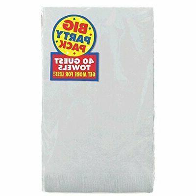 silver 2 ply paper guest towel big