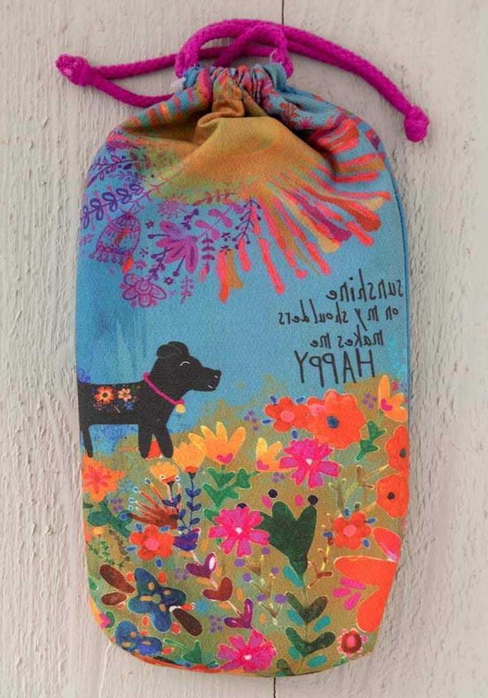 NATURAL SUNSHINE MY SHOULDERS Microfiber Towel + Bag, Puppy Dog, Beach