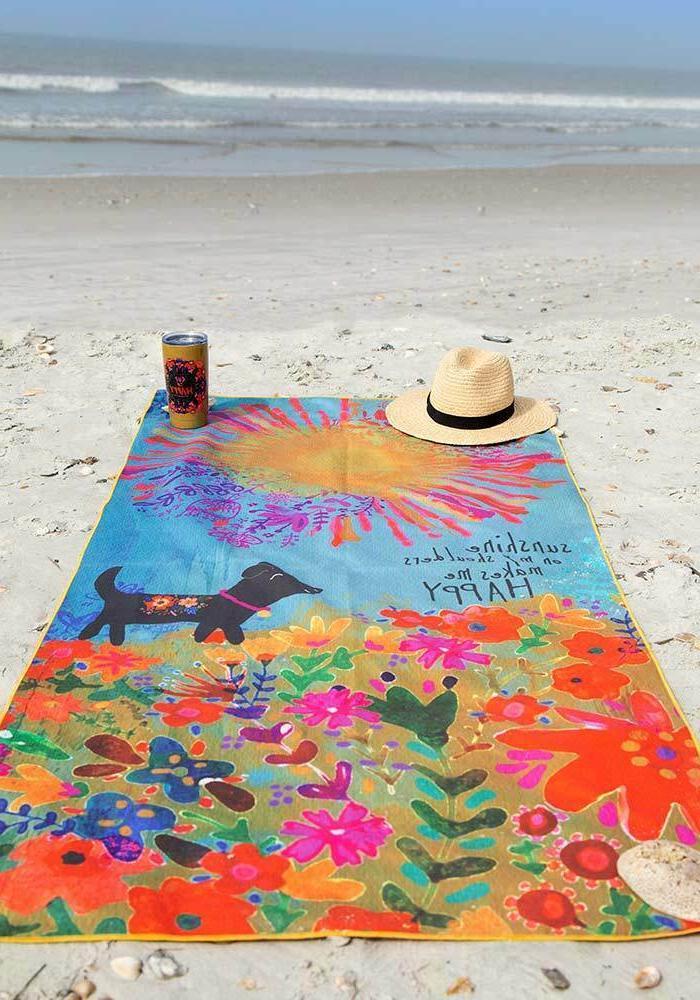 NATURAL LIFE SUNSHINE ON MY SHOULDERS Towel + Dog, Beach
