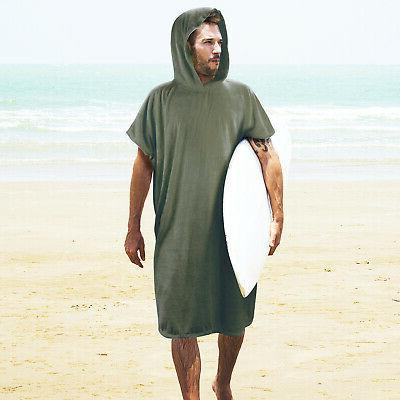 surf beach wetsuit changing towel with hood