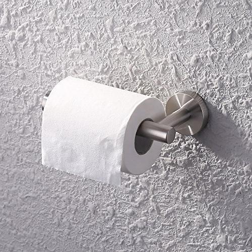 KES SUS 304 Steel Set Towel Bar Hook Toilet Paper Towel Ring