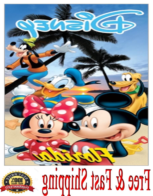 Disney Towel Mickey Minnie Goofy Donald Pluto Beach Towel  O
