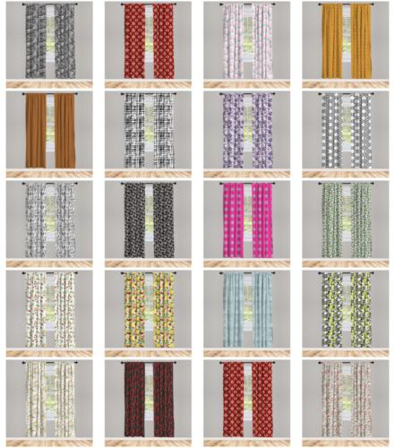 Window Panel Set Options for Living Room & Bedroom 3 by